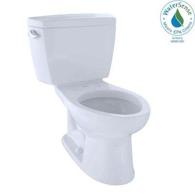Eco Drake 2-Piece 1.28 GPF Single Flush Elongated Toilet with 10 in. Rough-In in Cotton White