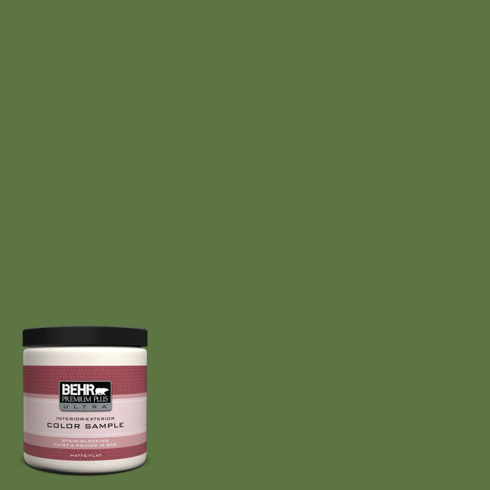 BEHR Premium Plus Ultra 8 oz. #420D-7 Dill Pickle Interior/Exterior Paint Sample