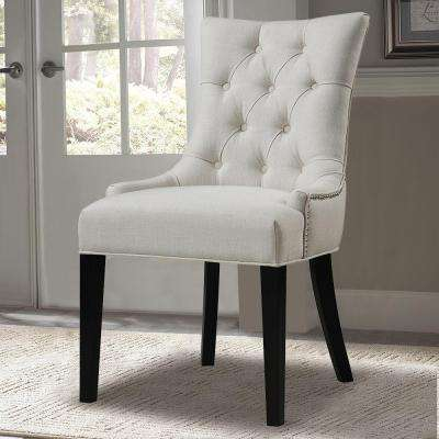 Cream Fabric Side Chair