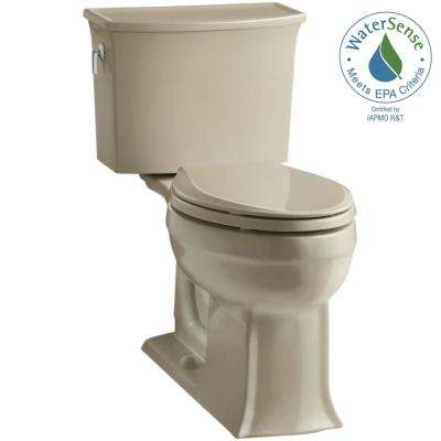 Archer Comfort Height 2-piece 1.28 GPF Single Flush Elongated Toilet with AquaPiston Flushing Technology in Mexican Sand