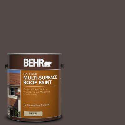 1 gal. #RP-31 Chaparral Brown Flat Multi-Surface Roof Paint