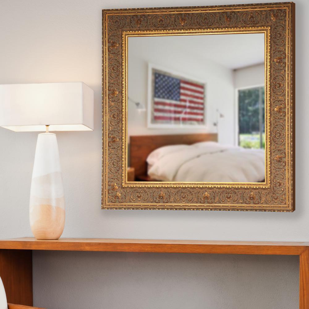 Opulent Gold Square Vanity Mirror