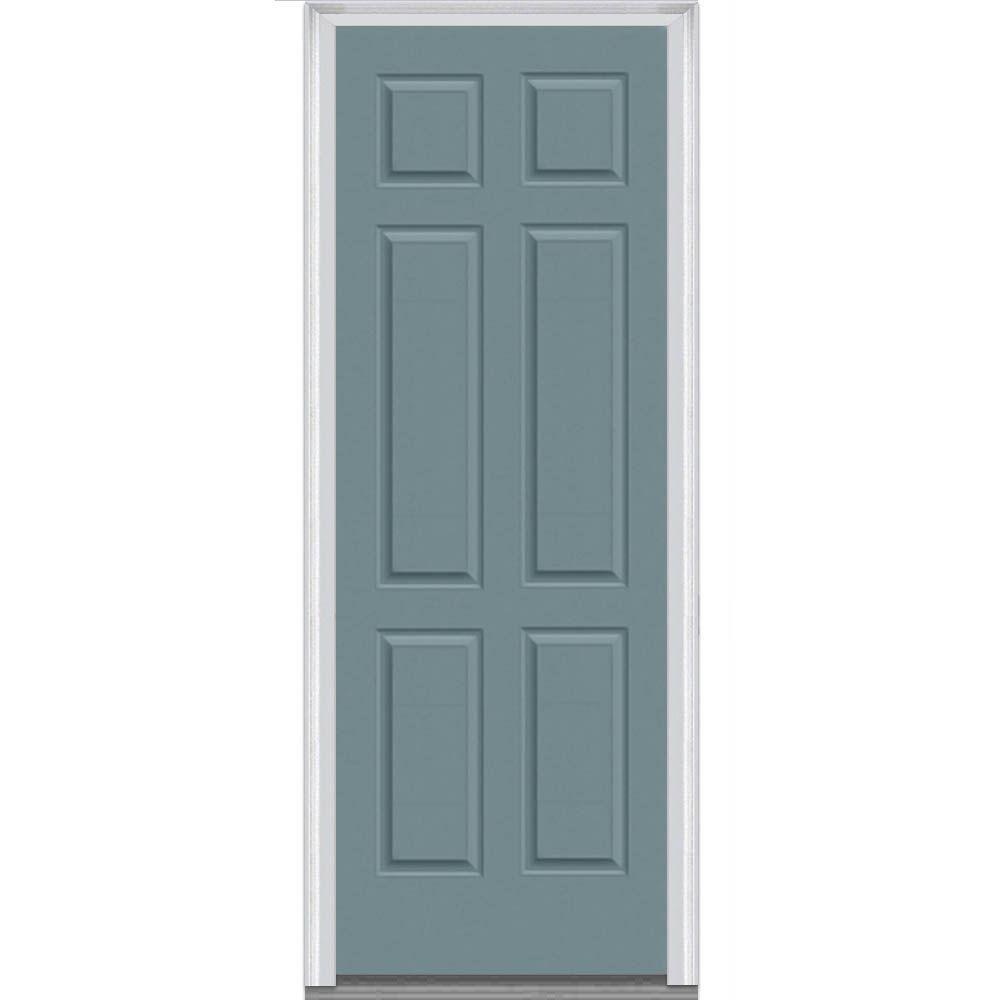335 in x 8775 in 6 panel painted majestic steel exterior door