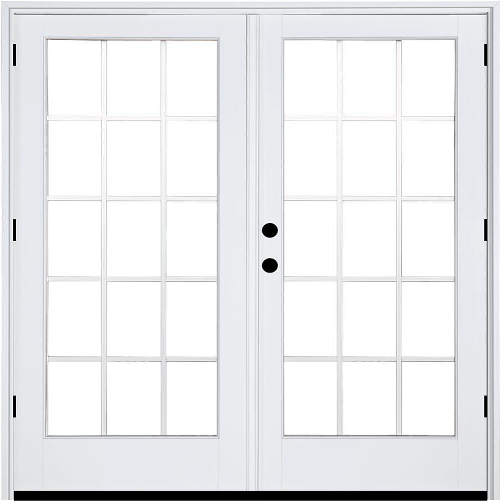 Mp doors 72 in x 80 in fiberglass smooth white right for White french patio doors