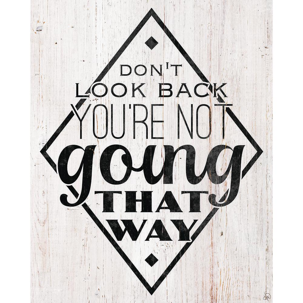 "20 in. x 24 in. ""Don't Look Back"" Wrapped Canvas Wall"