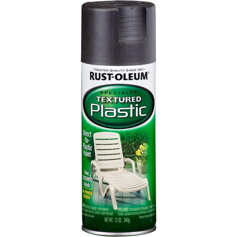 Rust-Oleum Specialty 12 oz. Black Paint for Plastic Textured Spray Paint (Case of 6)