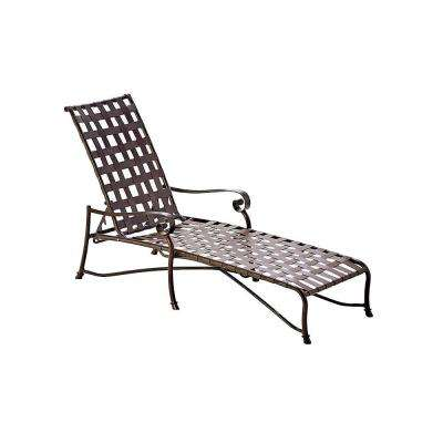 Vallero Crossweave Contract Java Patio Chaise Lounge