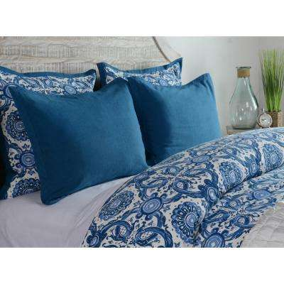 Resort Marine Cotton 26 in. x 26 in. Euro Sham