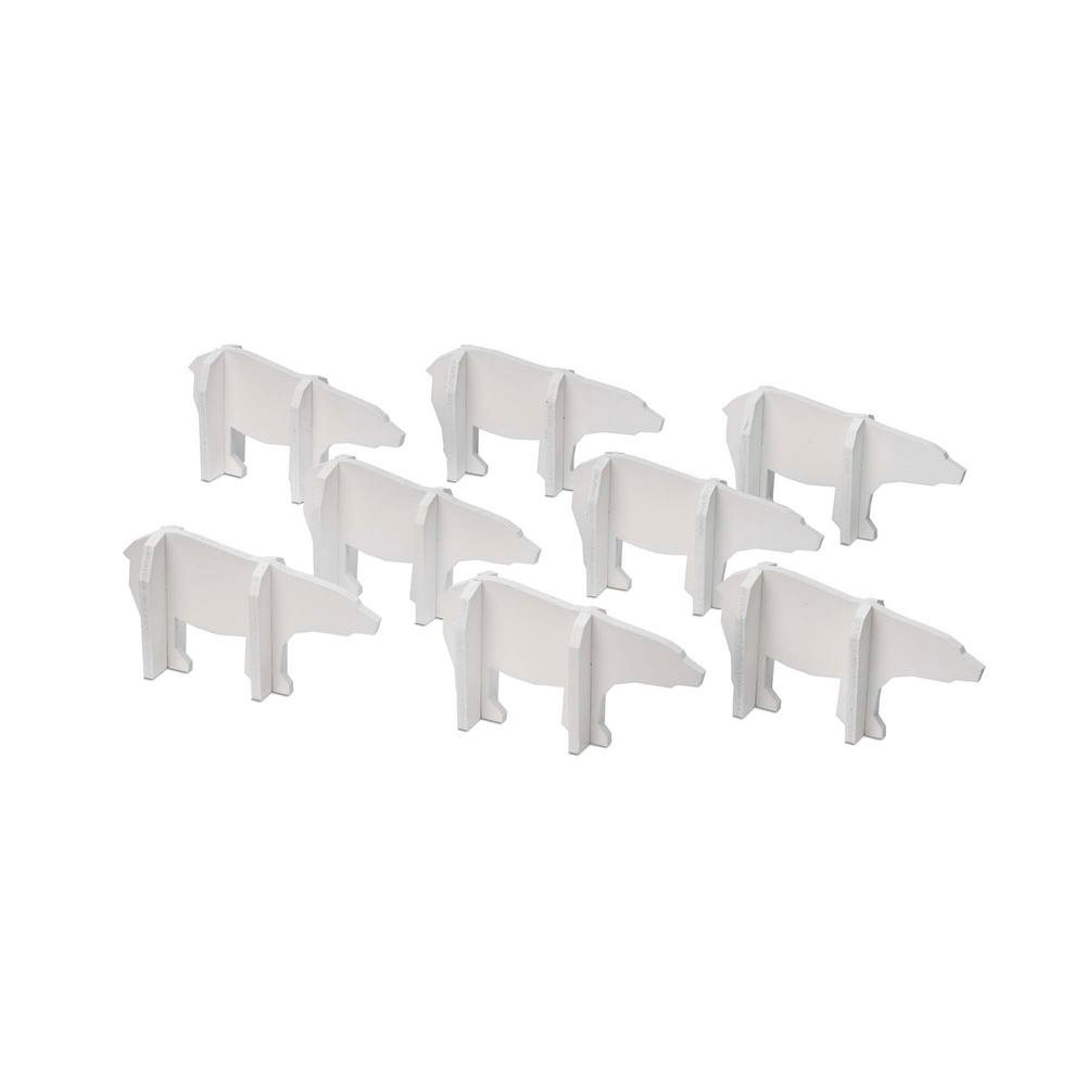 3 in. Christmas Hudson Polar Bear Decorations (8-Piece)