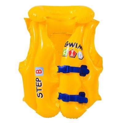 66 lbs. Yellow Swim Kid Step B Inflatable Unisex Water or Swimming Pool Training Vest