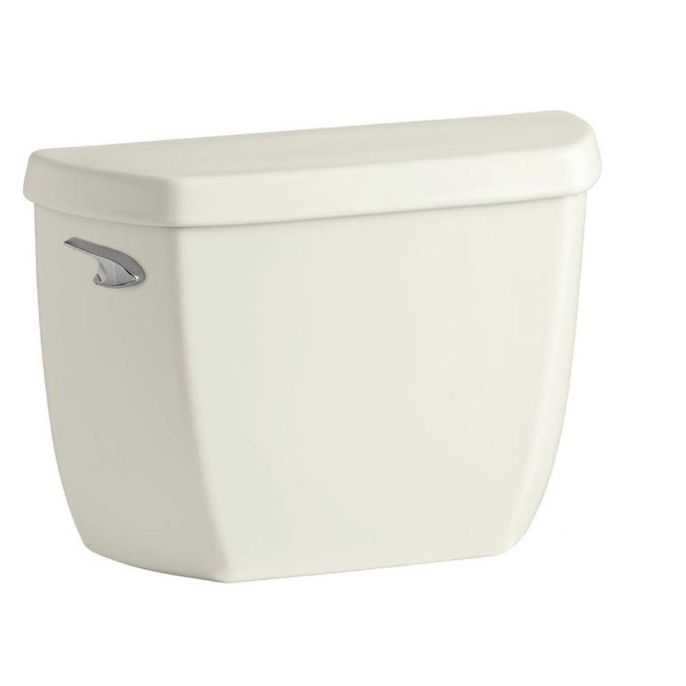 KOHLER Wellworth Classic 1.28 GPF Single Flush Toilet Tank Only with Class Five Flushing Technology in Biscuit
