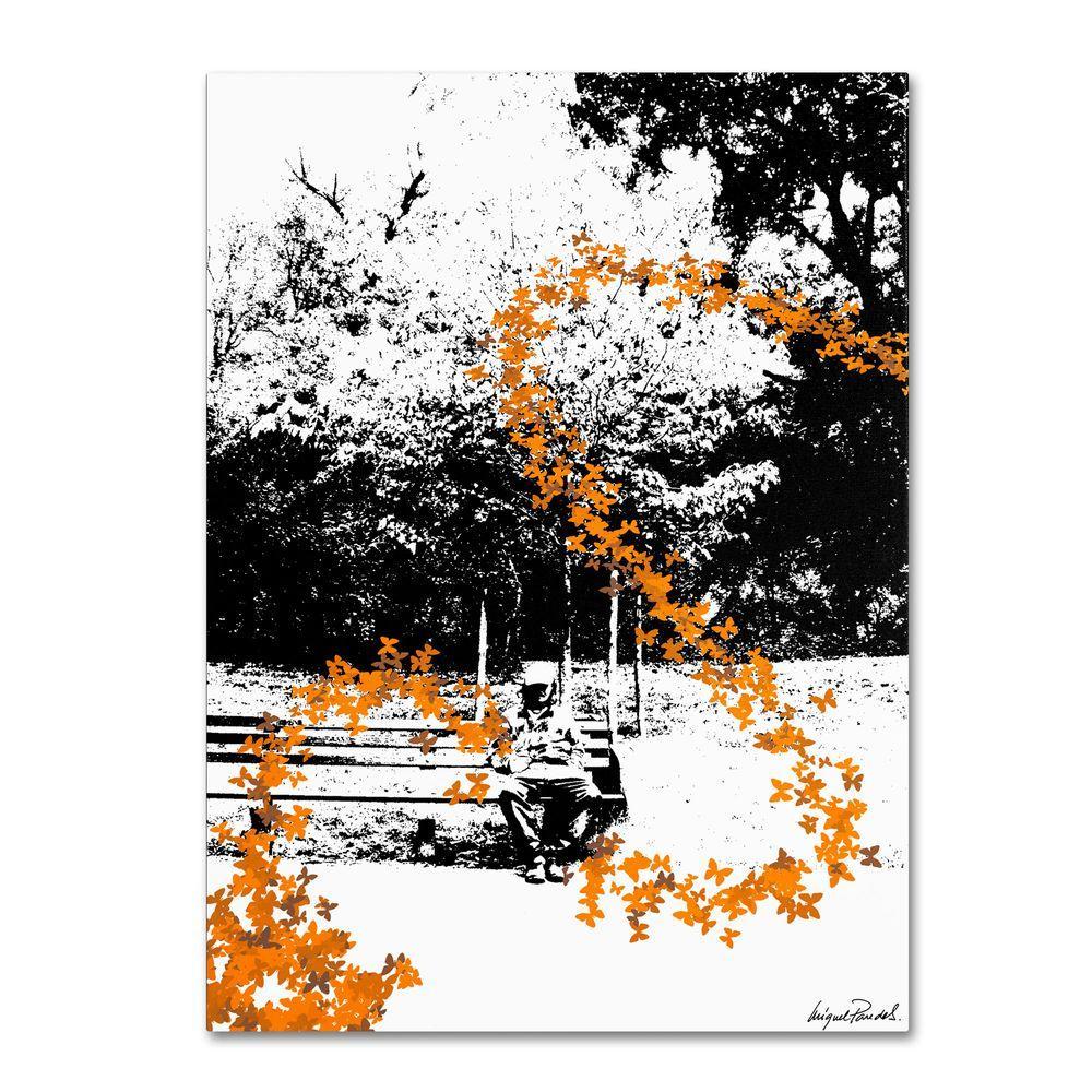 14 in. x 19 in. Orange Butterflies Canvas Art
