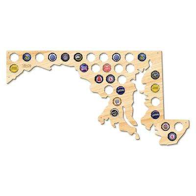 23 in. x 12 in. Large Maryland Beer Cap Map
