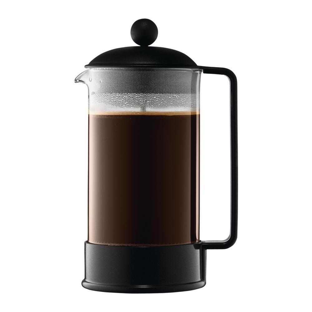 Bodum Brazil 12-Cup Black French Press Coffee Maker 1552-01US