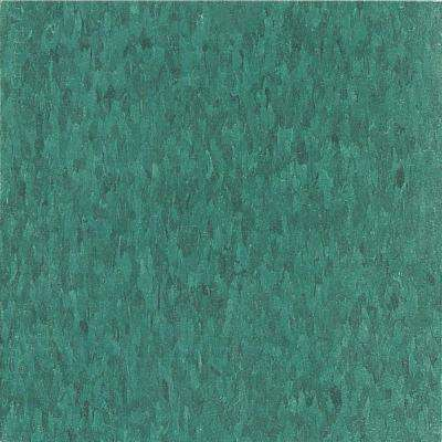 Take Home Sample - Imperial Texture VCT Sea Standard Excelon Green Vinyl Tile - 6 in. x 6 in.