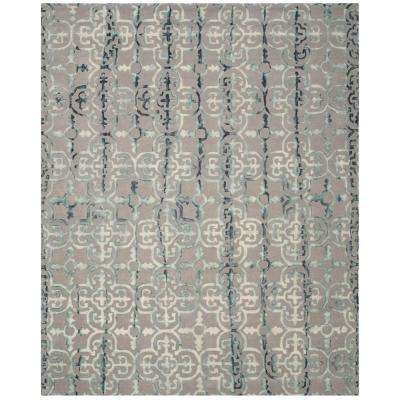 Dip Dye Gray/Charcoal 8 ft. x 10 ft. Area Rug