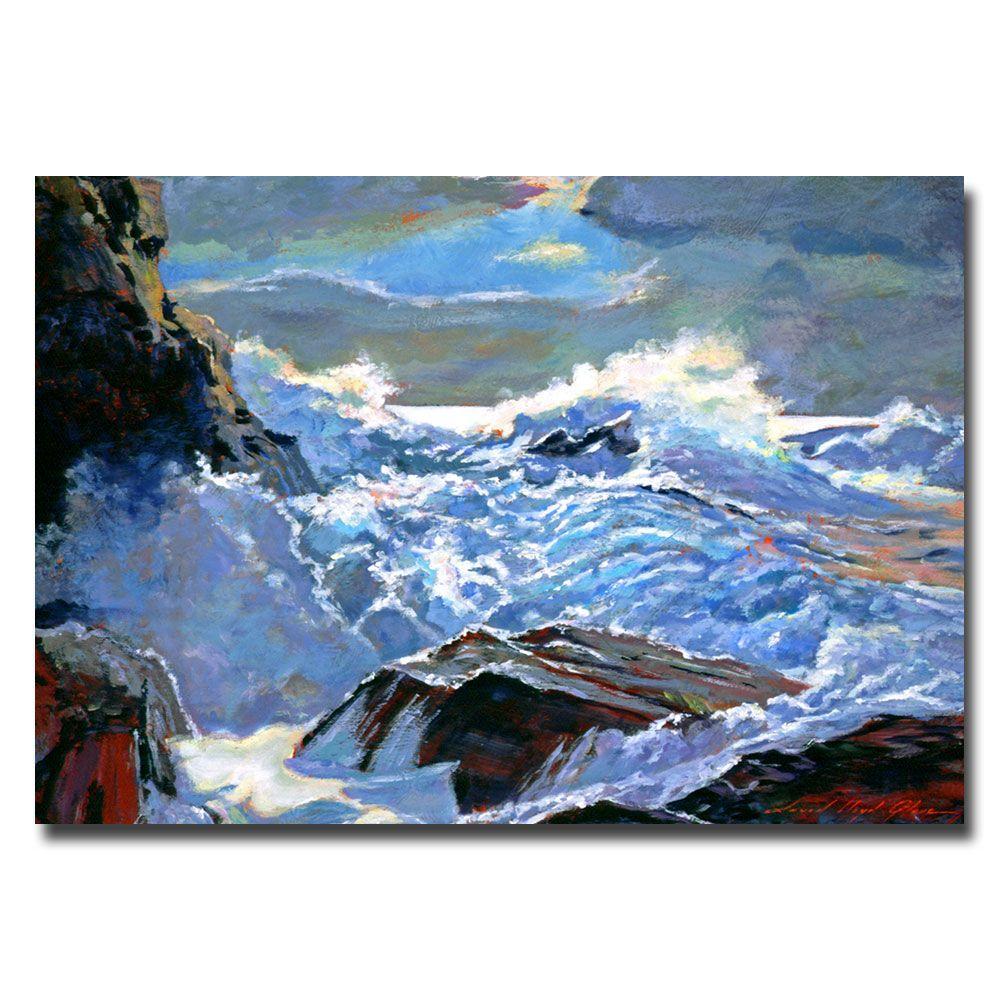 wholesale dealer 9ce20 cfbb5 22 in. x 32 in. Foaming Sea Canvas Art