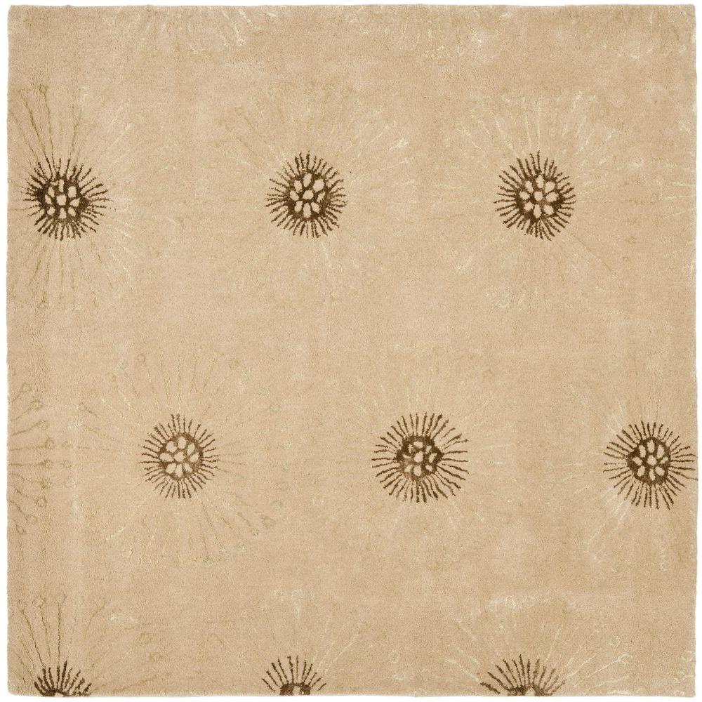 Soho Beige Brown 6 Ft X Square Area Rug