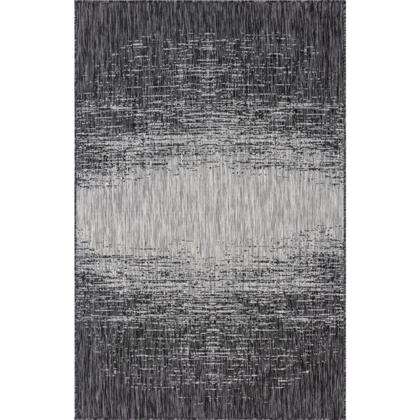 Gray Ombre Outdoor 7 ft. x 10 ft. Area Rug