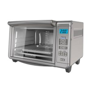 Black & Decker 6-Slice Dining-In Digital Countertop Silver Toaster Oven by BLACK+DECKER
