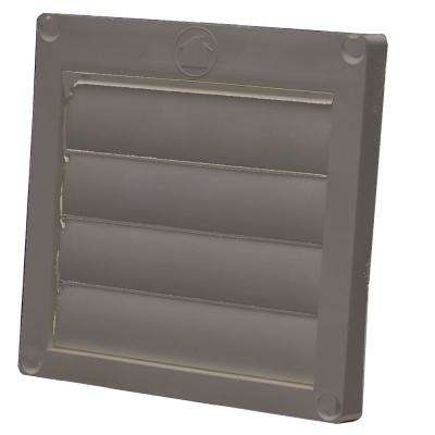 4 in. Dia Louvered Plastic Exhaust Hood in with Snap Ring in Brown (12-Pack)