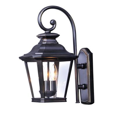 Knoxville 11 in. W 3-Light Bronze Outdoor Wall Lantern Sconce