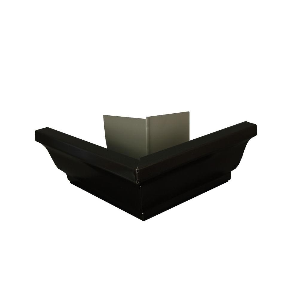 Amerimax Home Products 5 in. AMP Dark Bronze Aluminum Outside Miter Box