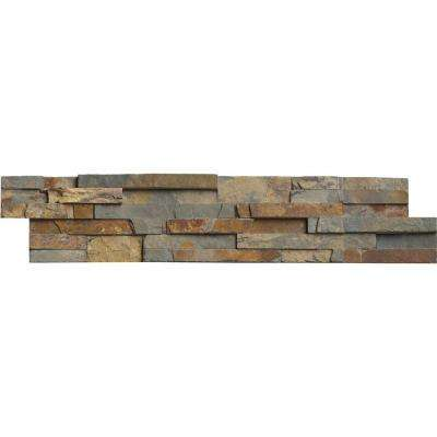 Gold Rush Ledger Panel 6 in. x 24 in. Natural Slate Wall Tile (10 cases / 60 sq. ft. / pallet)