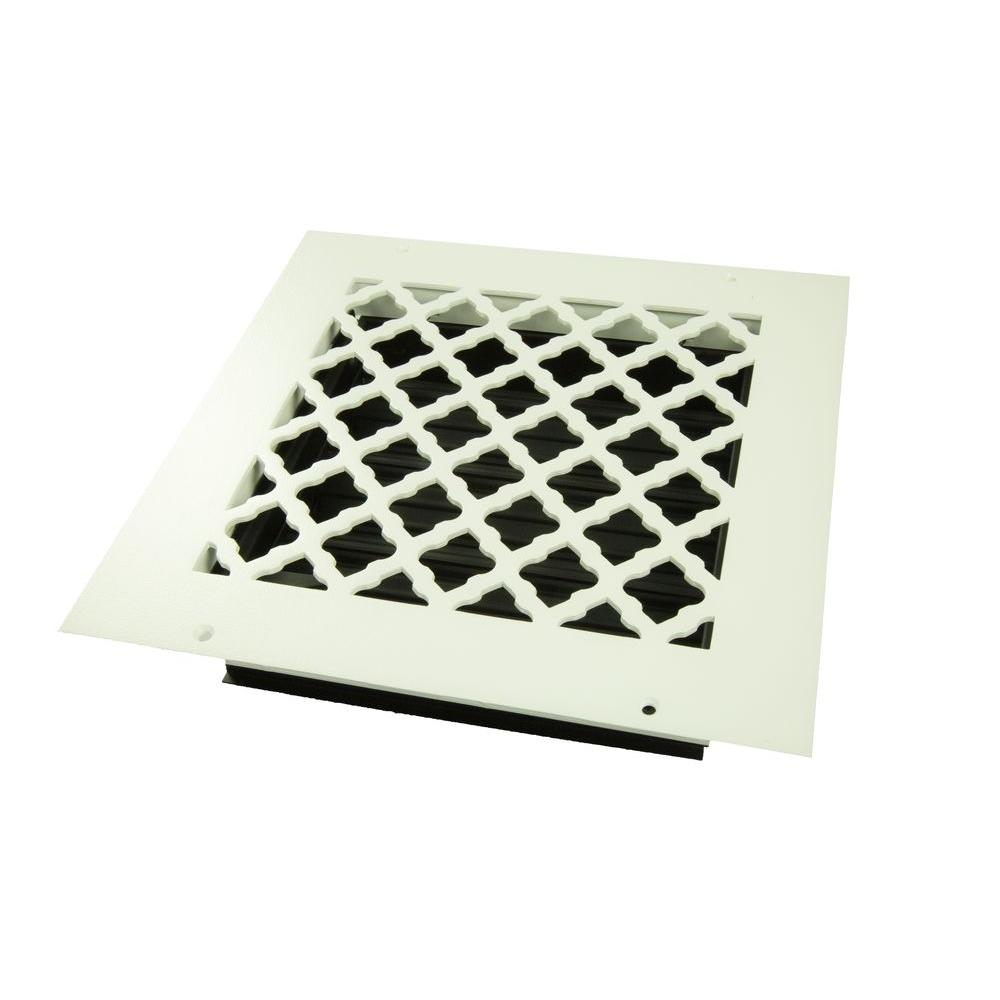 Tuscan 8 in. x 8 in. Wall or Ceiling Register, White/Powder