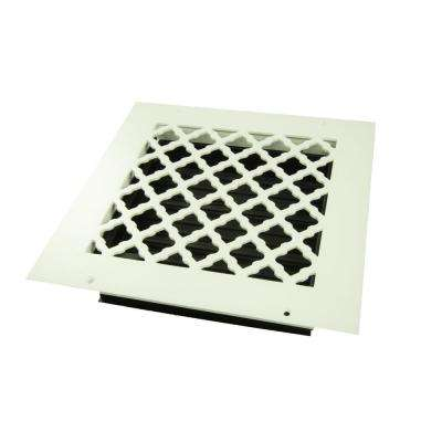 Tuscan 8 in. x 8 in. Wall or Ceiling Register, White/Powder Coat with Opposed Blade Damper