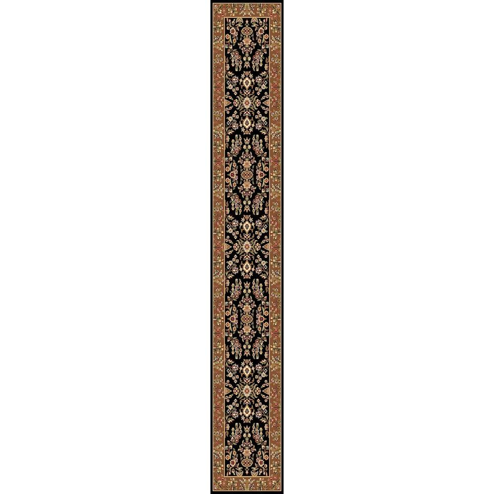 Lyndhurst Black/Tan 2 ft. 3 in. x 12 ft. Runner