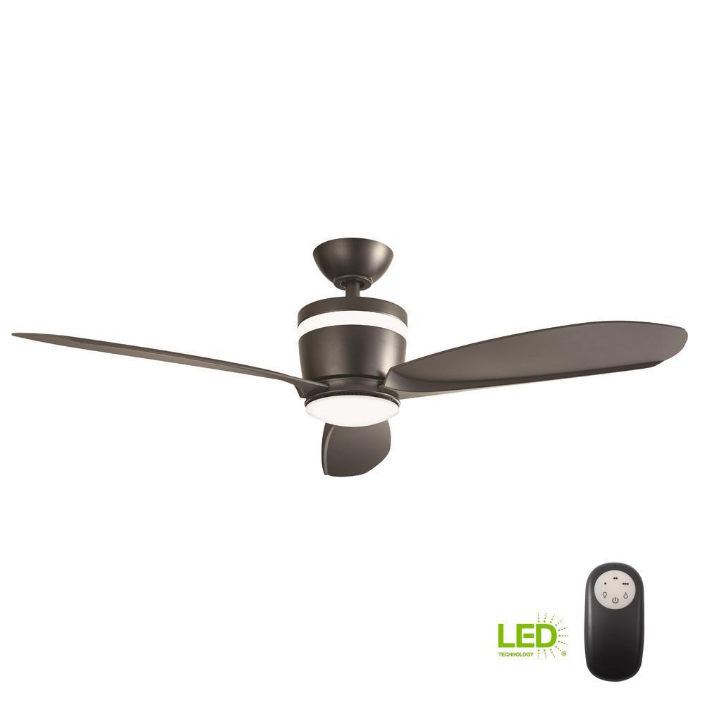 cdf8cdec22e Home Decorators Collection Federigo 48 in. LED Matte Black Ceiling ...