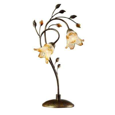 30 in. Bronze Windance Floral Table Lamp