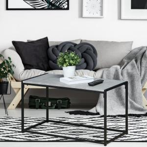 Miraculous Furinno Ernst Modern Stone Coffee Table Fm 8040Ctsw The Ncnpc Chair Design For Home Ncnpcorg