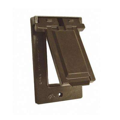 1-Gang Horizontal Mount Weatherproof Flip Lid Device Cover