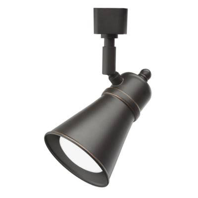 Shade Baffle 1-Light Oil Rubbed Bronze LED Track Lighting Head