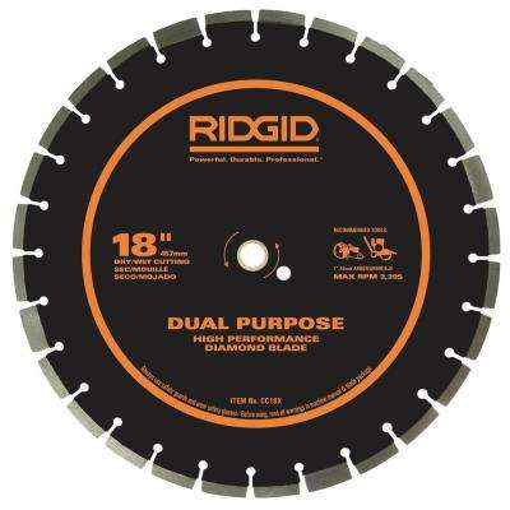 18 in. Dual-Purpose Walk-Behind Saw Diamond Blade