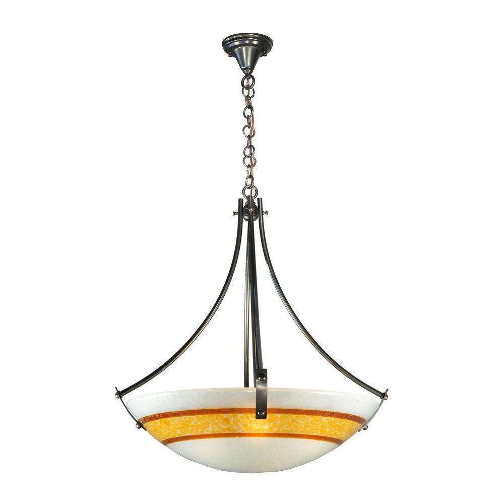 Illumine 4 Light Inverted Pendant Fused Glass