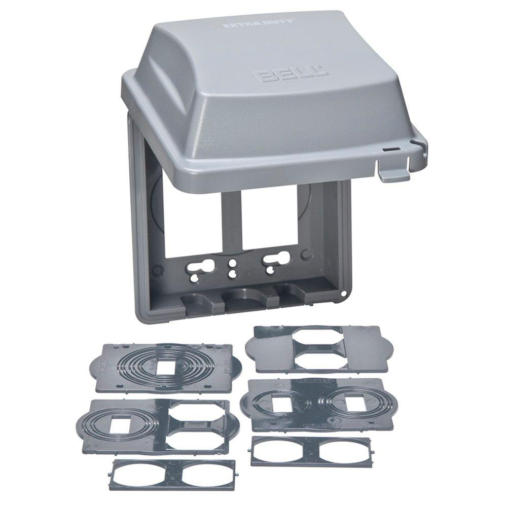 4 4 Weatherproof Electrical Box: TAYMAC 2-Gang Weatherproof Extra Duty In-Use Cover-MM2420G