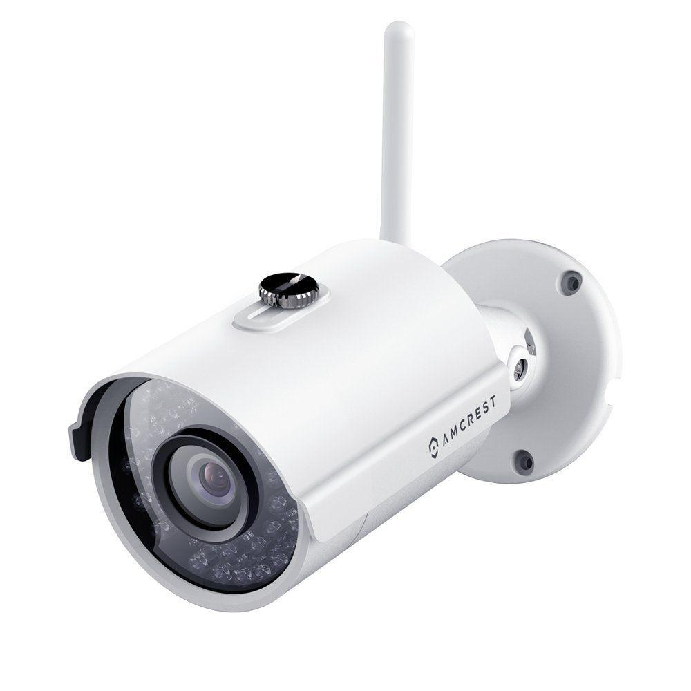 Amcrest ProHD Outdoor 1,080p Wi-Fi Wireless IP Security Bullet Camera with IP66 Weatherproof, 1,080p 1,920TVL, IP2M-842, White