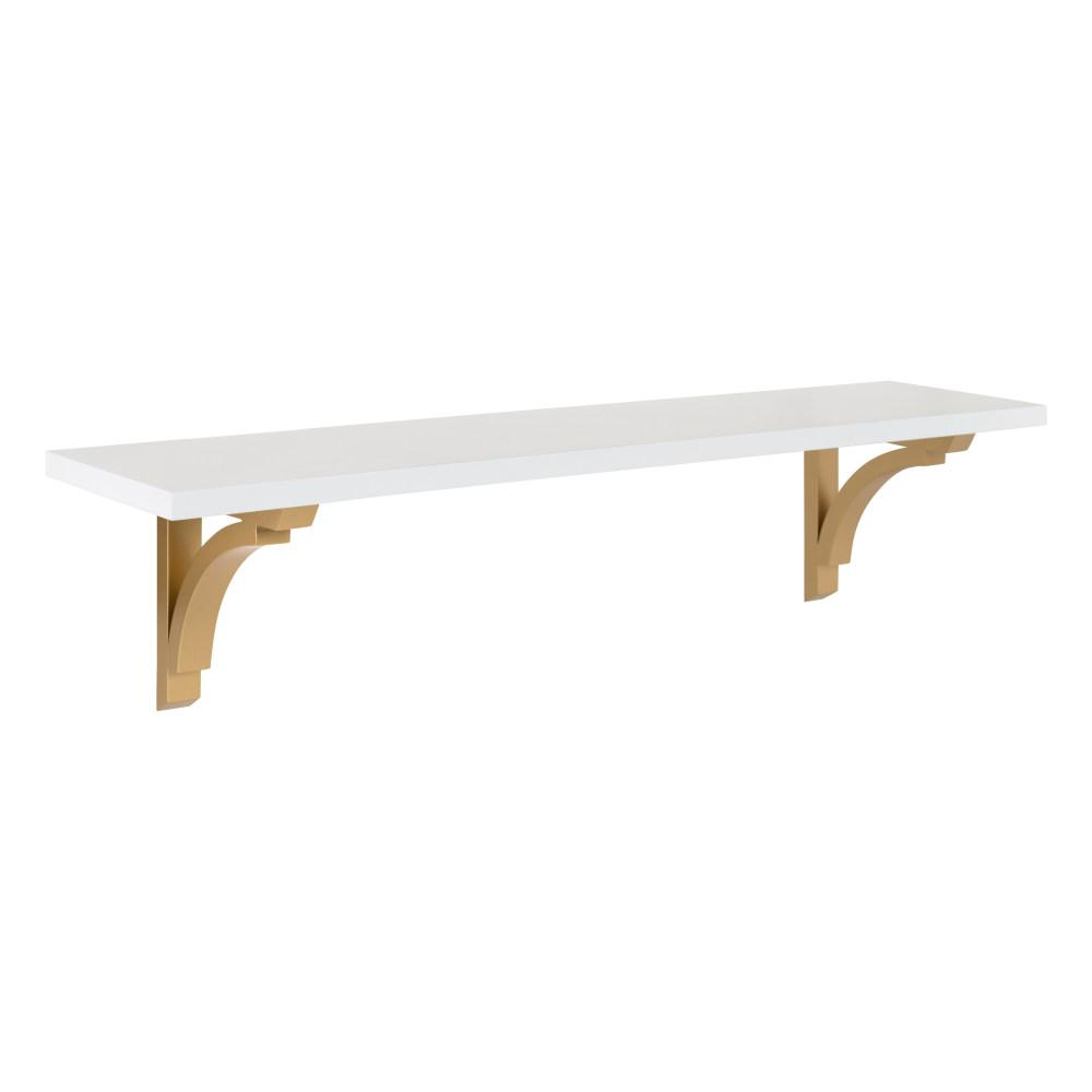 Corblynd 8 in. x 36 in. x 9 in. White/Gold Decorative