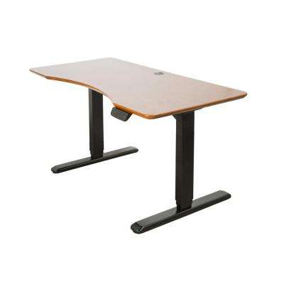 ErgoMax Black Electric Height Adjustable Desk Frame w/Dual Motor, Tabletop Not Included, 50 Inch Max Height