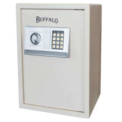 1.5 cu. ft. Floor Safe with Electronic Lock in Beige