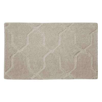 Pearl Drona Cream Puff 20 in. x 32 in. Bath Mat