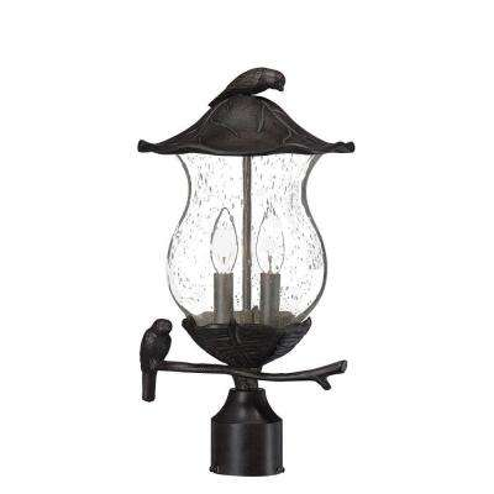 Avian 2-Light Black Coral Outdoor Post Light Fixture