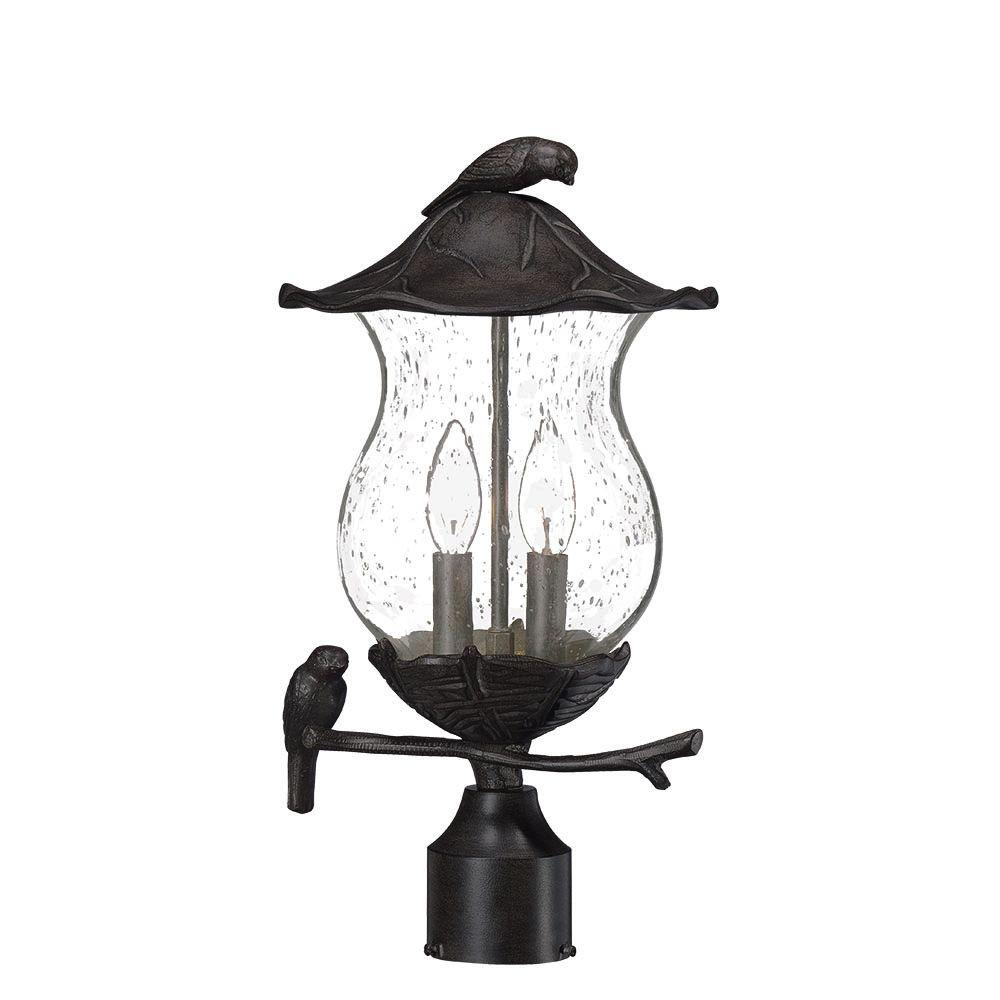 Acclaim lighting avian 2 light black coral outdoor post light acclaim lighting avian 2 light black coral outdoor post light fixture aloadofball Choice Image