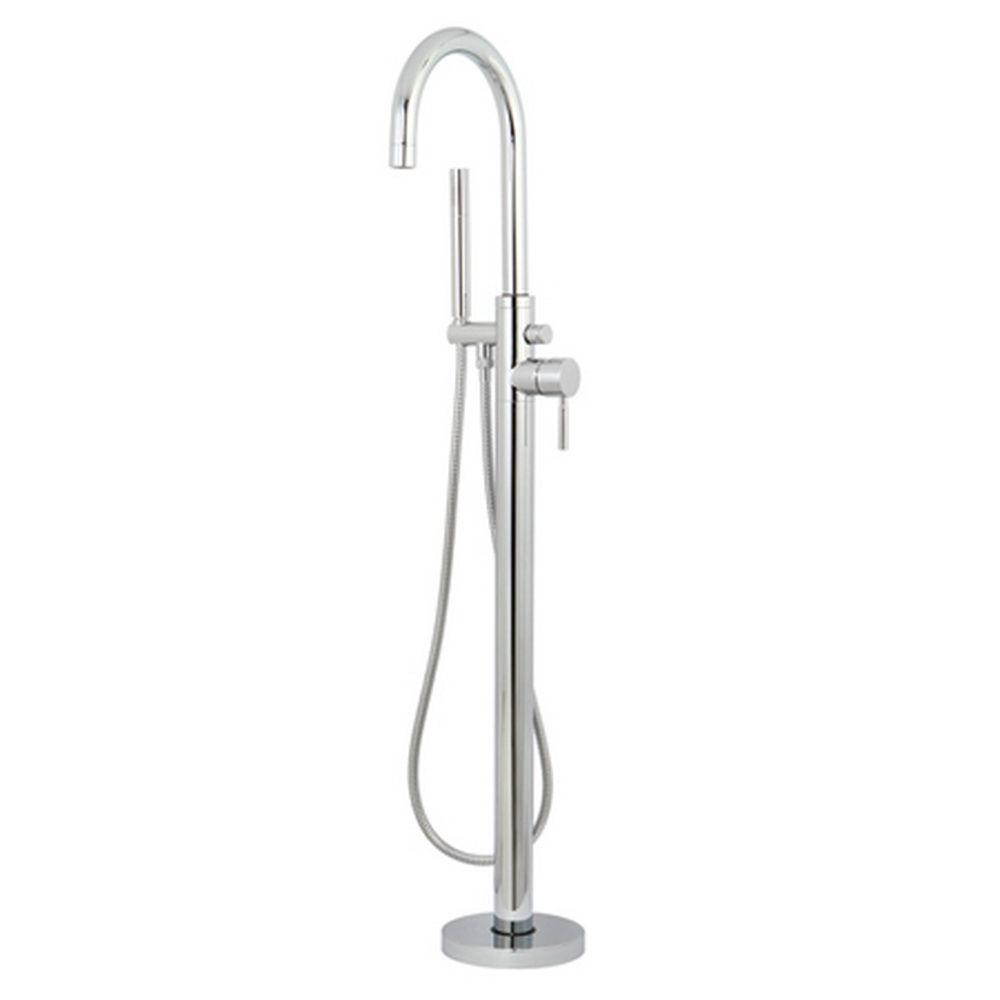 Aqua Eden Concord Single-Handle Claw Foot Tub Faucet with Handshower ...