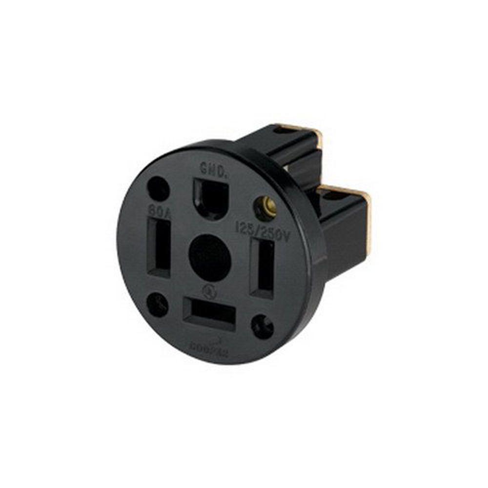 Eaton 60 Amp 125/250-Volt 14-60 3-Pole/4-Wire Power Receptacle-9460N ...