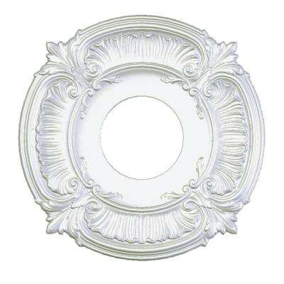 41 in. Acanthus White Ceiling Medallion