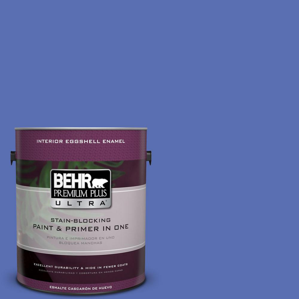 BEHR Premium Plus Ultra 1-Gal. #PPU15-5 New Age Blue Eggshell Enamel Interior Paint